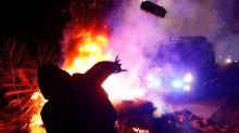 A crowd in Ukraine threw bricks at buses carrying coronavirus evacuees from Wuhan to quarantine