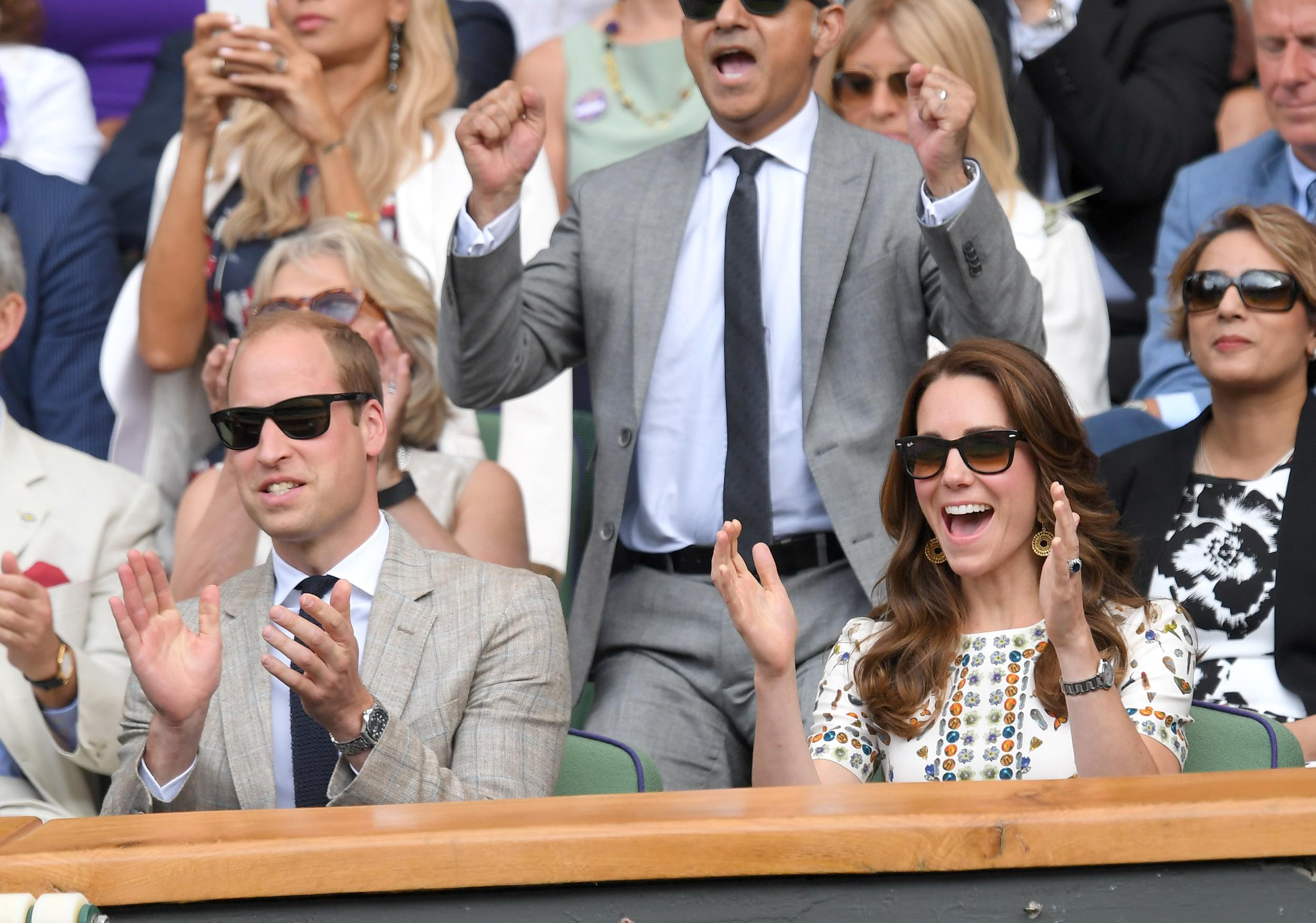 Duke and Duchess applaud triumph.
