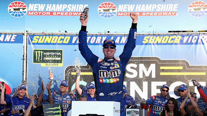 Moving on: Kyle Busch advances with win