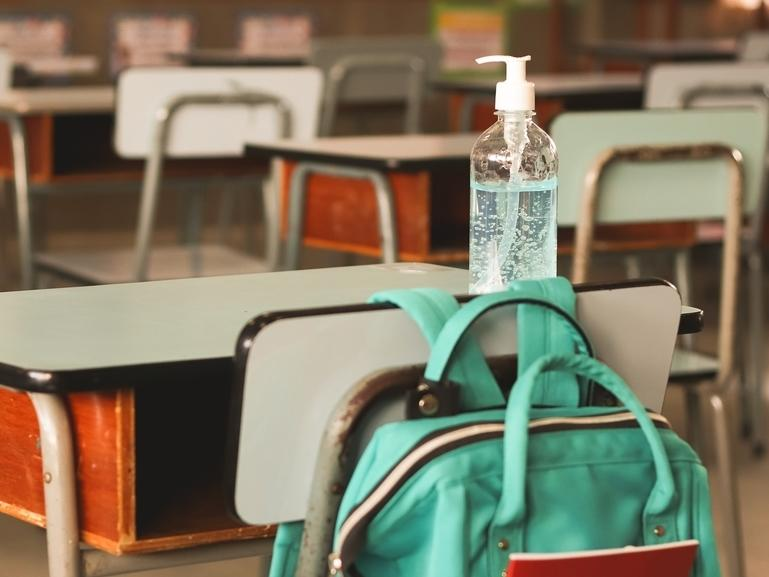 Hand sanitizer stations will be set up in each classroom, officials said.