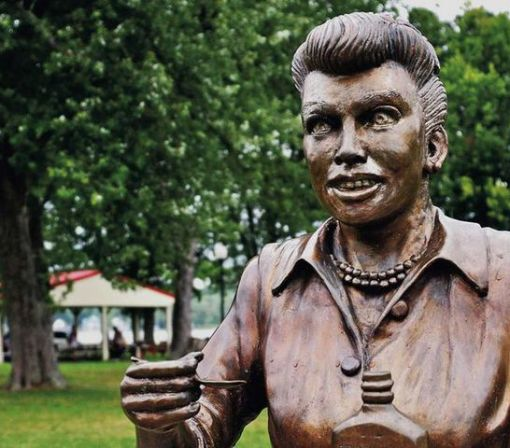 Creepy Lucille Ball statue known as 'Scary Lucy' is finally replaced