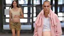 Dieser Designer schickt schwangere Männer über den Laufsteg