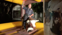 Police department defends video of officer riding mechanical bull at party: 'I'm the Chief and loved it'