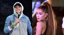 Ariana Grande and Pete Davidson Kiss While Shopping in NYC: Pic