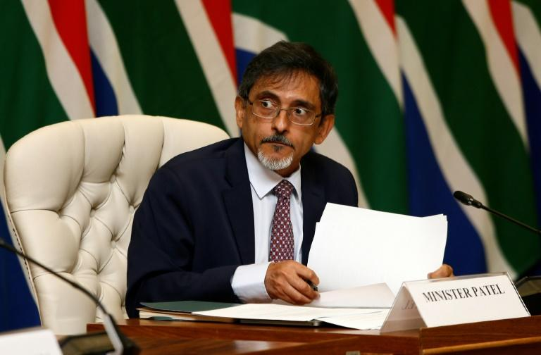 South African Trade Minister Ebrahim Patel, pictured in March 2020, is among four ministers and several MPs who have so far contracted coronavirus in South Africa
