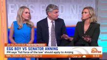 Egg boy vs Senator Anning