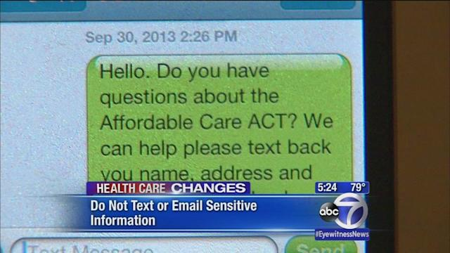 Affordable Care Act potential target for scam artists