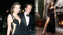 Elizabeth Hurley, 53 ans, a accepté de porter sa célèbre robe Versace ornée d'épingles pour Harper's Bazaar