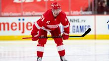 Red Wings' Dylan Larkin returns to practice, hopeful of big second half