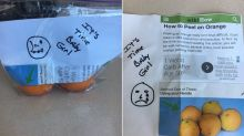 Dad celebrates his daughter going to college with unpeeled oranges