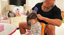 Dwayne Johnson Showcases His 'Exceptional Hair Skills' as He Brushes Daughter Tiana's Tangles
