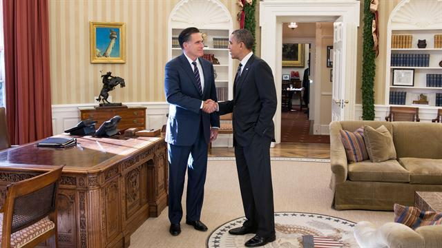 Romney joins Obama for private lunch at the White House
