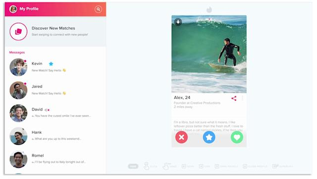 Tinder on the desktop: Looking for love in another wrong place