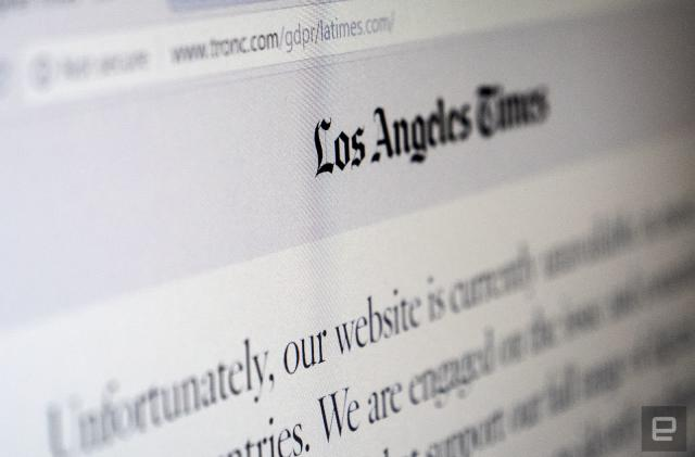 Major US news sites are still blocking Europeans due to GDPR
