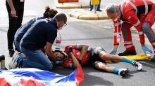 Mikel Landa para el corazón de los aficionados tras sufrir una caída grave en el Giro
