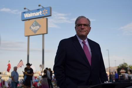 FILE PHOTO: El Paso Mayor Dee Margo visits a memorial four days after a mass shooting in El Paso