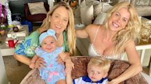 """Ticiane Pinheiro e Karina Bacchi posam com os filhos: """"Matando as saudades"""""""