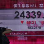 Asian stocks mixed amid China tension with US, Australia