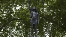 UK slave trader statue in Bristol replaced by sculpture of black protester