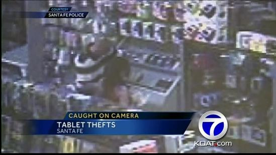 Police: Man uses son to help steal tablet-style notebooks