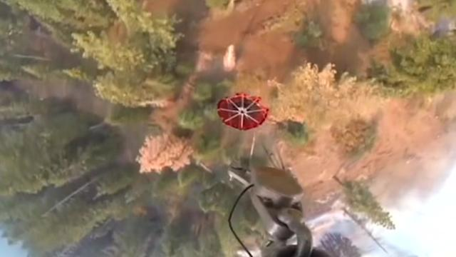 California Air National Guard helps to contain California fire