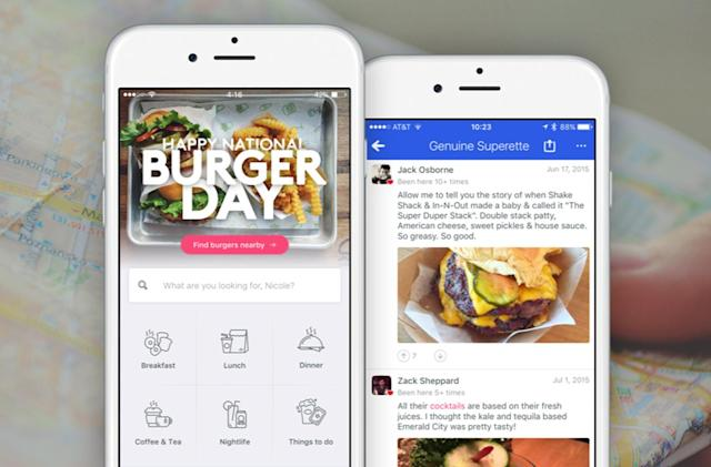 Foursquare's revamped city guide app puts search at its center