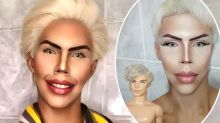 Man who calls Ken 'a God of beauty' spends four hours every day transforming into the doll