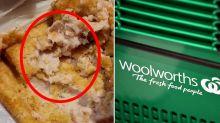Woolworths customer's sickening find in chicken schnitzel