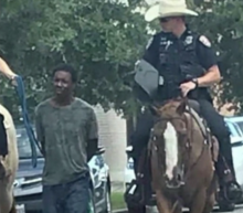 Texas police who led black man down street by rope will not face criminal probe