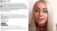 Sex worker says ASOS 'banned' her from ordering due to her job
