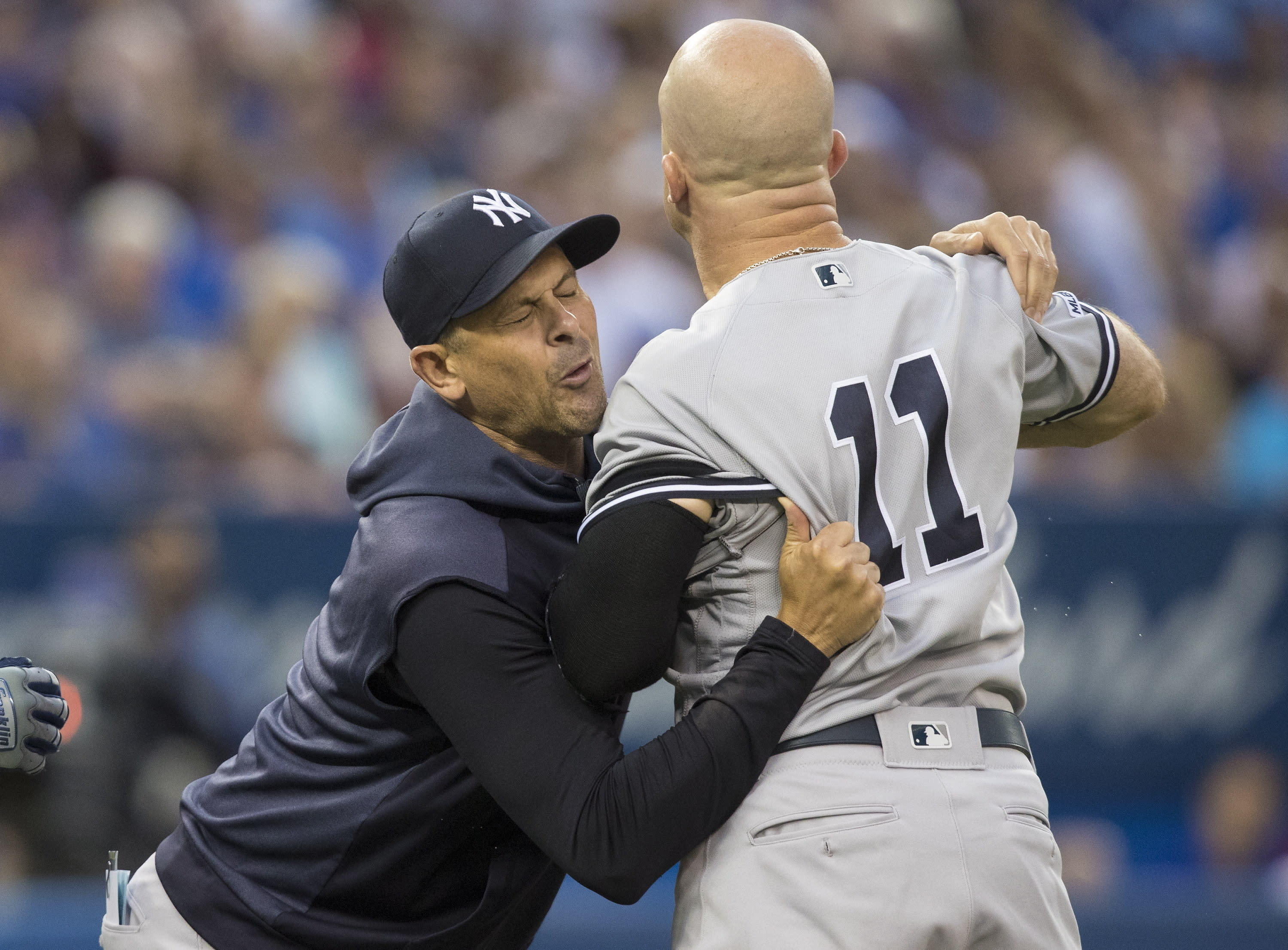 competitive price 9888d ddb39 Yankees' Boone, Gardner involved in another umpire spat