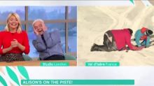 'This Morning's' Alison Hammond leaves viewers in hysterics as she falls over skiing twice