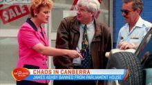 Senator Burston admits smearing blood on Hanson's door