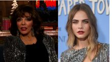 Joan Collins on Being One of Cara Delevigne's 16 Godparents