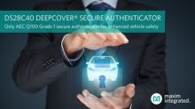 Maxim Provides Industry's First and Only Automotive-Grade Secure Authenticator to Enhance Vehicle Safety