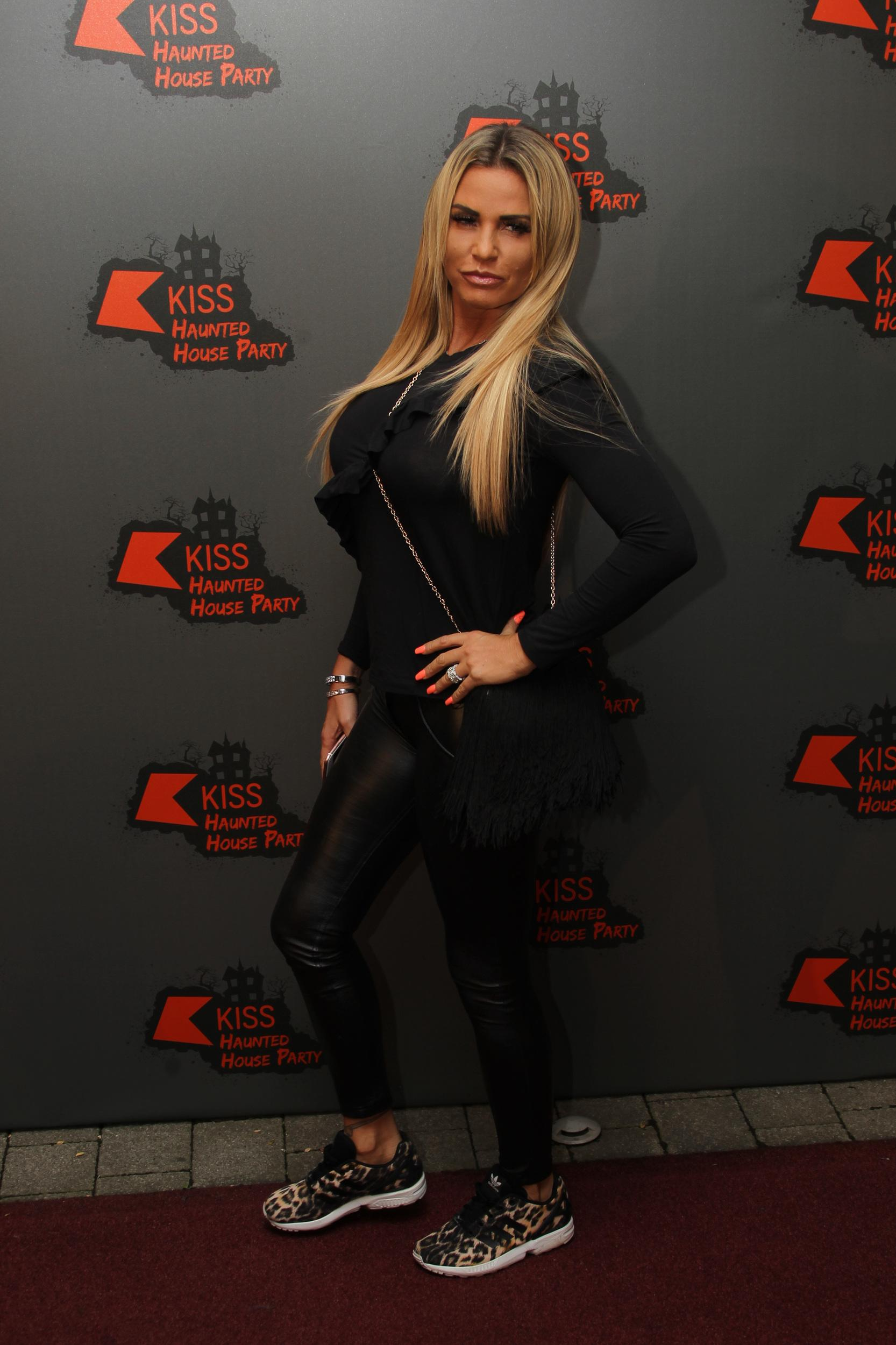 Katie Price arriving on the red carpet at the 2016 KISS Haunted House Party at the Wembley Arena in London. Photo date: Thursday, October 27, 2016. Photo credit should read: Richard Gray/EMPICS Entertainment