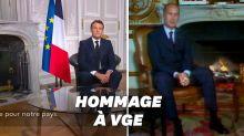 Pour ses vœux 2021, Macron a opté pour un décor très giscardien