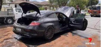 Vídeo: arde su Mercedes-AMG C 63 S Coupé al intentar quemar ruedas