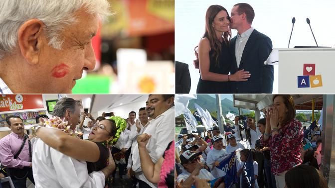 El candidato presidencial que recibe más besos