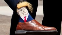Donald Trump's Face Is on Socks With Combover Hair Weave That Stretches
