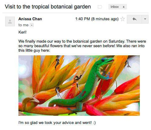 Latest Gmail tweak lets images display in your email automatically