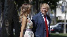 Trump asiste a ceremonia de Pascua, critica a Mueller