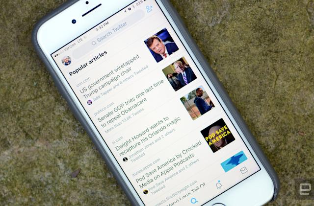 Twitter now displays popular articles from your timeline