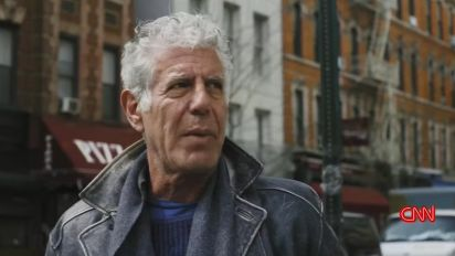 Bourdain revisits gritty NYC past on final show