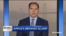 Goldman Sach's Apple analyst breaks down the stock's down...