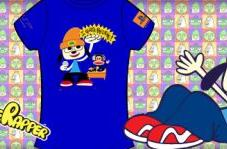 Limited edition PaRappa tee by Paul Frank