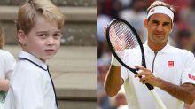 El príncipe Jorge recibe lecciones de un campeón de Grand Slam