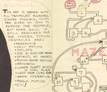Charming hand-drawn Dungeon map predates Zork