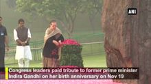 Sonia Gandhi, Manmohan Singh pay tribute to late PM Indira Gandhi