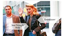 Look des Tages: Amber Heard zeigt Haut im See-Through-Body